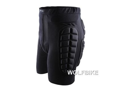 Picture of WOLFBIKE 3D Padded Short Protective Hip Butt Pad Ski Compression Shorts