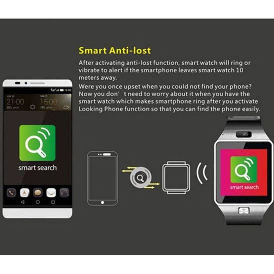 Picture of Смарт часовник DZ09, Smart Watch DZ09 със сим карта, камера,Bluetooth