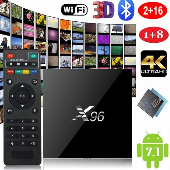 Снимка на Тв Бокс X96 2GB/16GB 4K x 2K Android 6.0 Quad Core WiFi 3D FHD