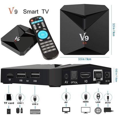 Снимка на Тв Бокс V9 7.1 TV Box AmlogicS905X Quad Core 4K 3G/32G WiFi Media
