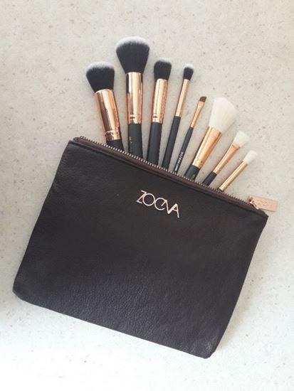 Снимка на Комплект професионални четки за грим ZOEVA 8бр с чантичка