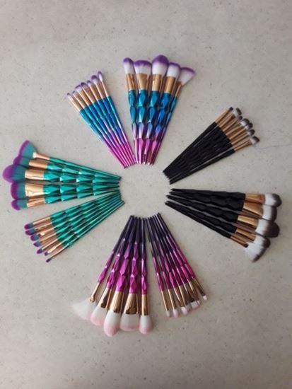 Снимка на Комплекти четки за грим Диамант 12 бр Diamond brushes