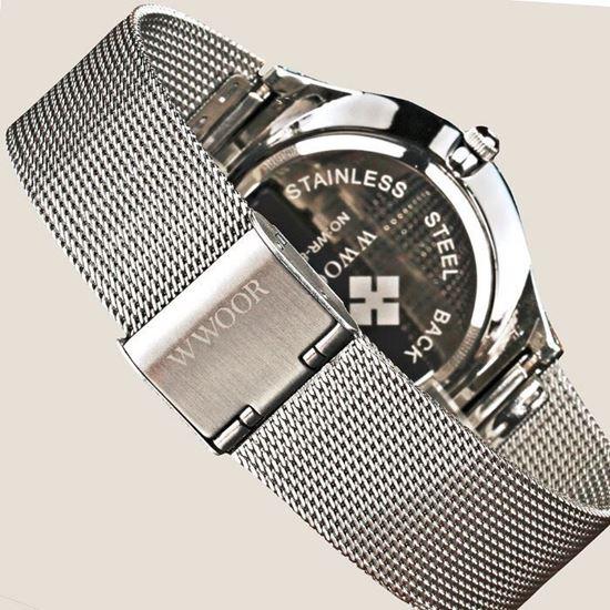 Снимка на Стилен ултратънък часовник WWOOR модел 8016