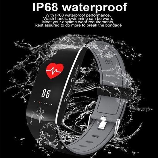 Picture of Фитнес гривна Ф10 F10 Smart Bracelet пулсомер водоустойва