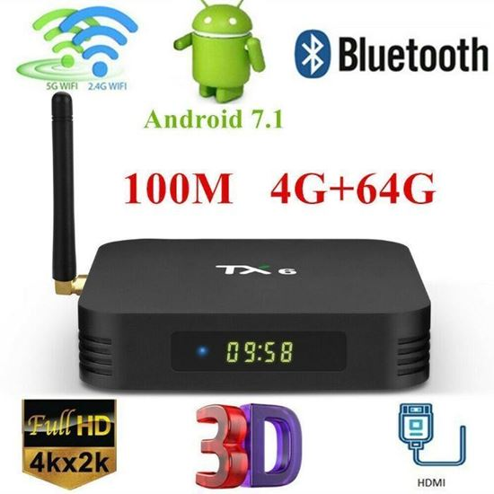 Снимка на Смарт Тв Бокс ТХ6 Android TV Box TX6 4GB/32GB+ 6K, Android 9.0