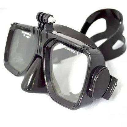 Снимка на Маска за гмуркане със стойка и спортна камерa