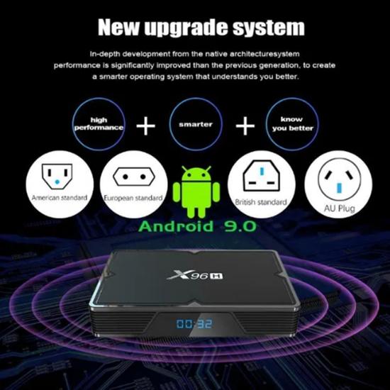 Снимка на X96H Андроид 9.0 64GB Quad-Core 2.4G/5G Dual WiFi 6K HD Тв Бокс Me