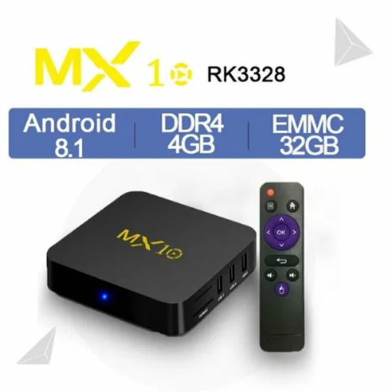 Снимка на MX10 4gb 32gb TV Box с процесор RK3328