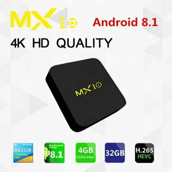 Снимка на MX10 4gb 64gb TV Box с процесор RK3328
