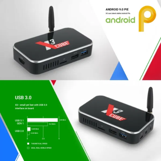 Picture of 1000M LAN X3 CUBE Тв Бокс Android 9.0 S905X3 2GB+16GB BT WiFi Медиа пл