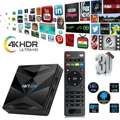 Снимка на Тв Бокс - HK1 SUPER Android 9.0 TV Box 4GB / 32GB Quad Core 64 Bit 6K