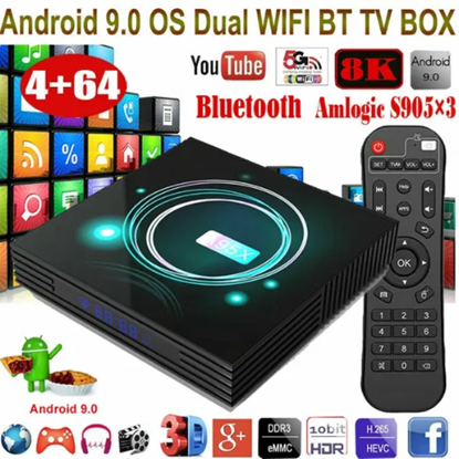 Снимка на A95X F3 Slim Андроид 9.0 Умен 4K Тв Бокс S905X3 2+16G Media Con Contro
