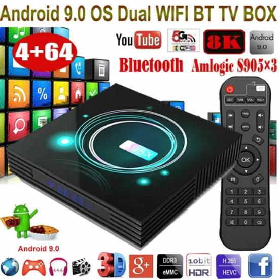 Picture of A95X F3 Slim Андроид 9.0 Умен 4K Тв Бокс S905X3 4+32G Media Con Contro