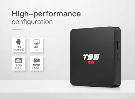 Picture of Тв Бокс - T95 Super Android 9.0 TV Box 2GB / 16GB Quad Core 64 Bit 6K