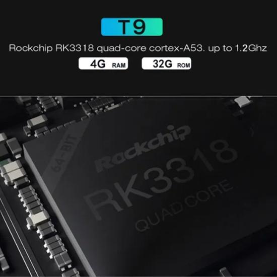Picture of Промо Супер бърз Нов ТВ БОКС T9 4GB DDR3 RAM памет и 64gb
