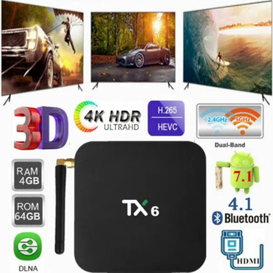 Picture of Смарт Тв Бокс ТХ6 Android TV Box TX6 4GB/32GB+ 6K, Android 9.0