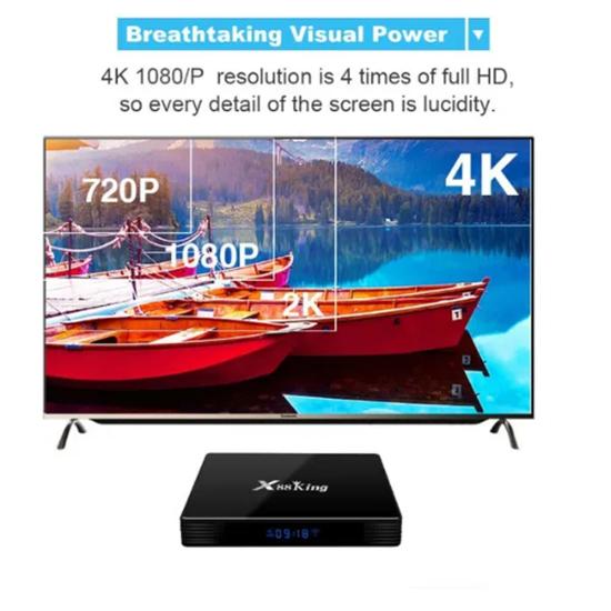 Picture of X88 King Андроид 9.0 Тв Бокс S922X BT5.0 Hexa core Mali G52 MP6 TV Set
