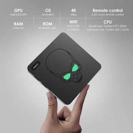 Снимка на TV Box Beelink GT King Android 9 4/64 Gb, 4K60p, Lan 1Gb, S922X