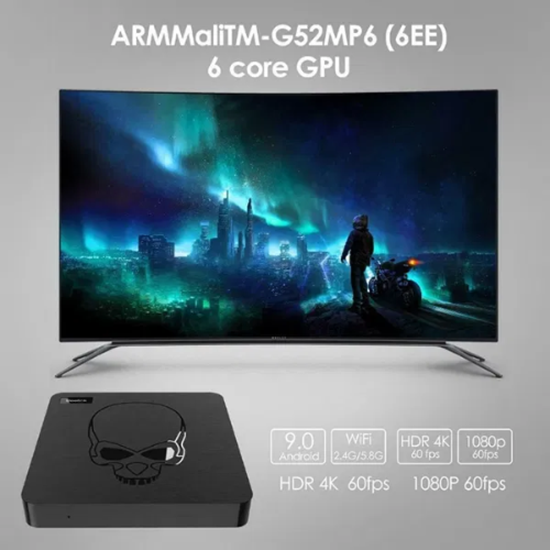Picture of TV Box Beelink GT King Android 9 4/64 Gb, 4K60p, Lan 1Gb, S922X