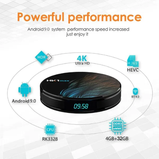 Снимка на HK1 max Android 9.0 TV Box 4GB / 32GB Quad Core 64 Bit 6K СH
