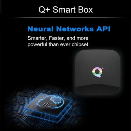 Picture of Q+ Plus Cortex A53 Quadcore 4/32 DDR4 RAM Smart TV Box Android