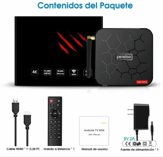 Picture of Смарт Тв Бокс Pendoo X6 pro Android TV Box 4GB/32GB+ 4K, Android 9.0