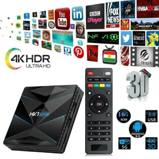 Снимка на Тв Бокс - HK1 SUPER Android 9.0 TV Box 2GB / 16GB Quad Core 64 Bit 6K