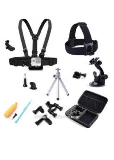Picture of GK7 нов комплект аксесоари за спортни камери 10 части GO PRO SJCAM,EK