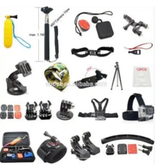 Picture of GK13 нов комплект аксесоари за екшън камери 21 части GO PRO SJCAM,EKEN