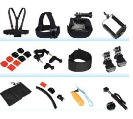 Picture of GK11 нов комплект аксесоари за екшън камери 10 части GO PRO SJCAM,EKEN
