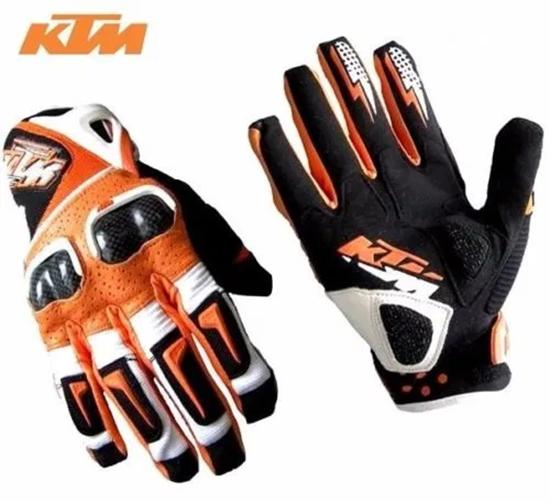 Picture of Кожени ръкавици перфорирани за мотор атв колело КТМ KTM