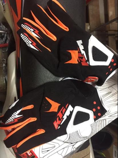 Снимка на Кожени ръкавици перфорирани за мотор атв колело КТМ KTM