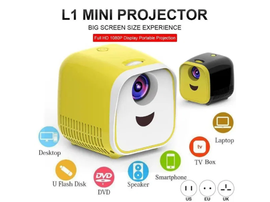 Picture of L1 Мини Проектор 1080P Full HD LED Movie Projector Домашен театър