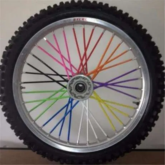 Picture of Удебелени сламки за спици 72бр. процепени всички цветове