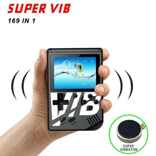 Picture of SUPER VIB Ръчна игра конзола за двама 169 игри в едно с вибрации