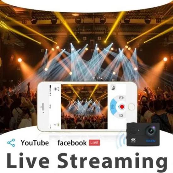 Снимка на Екшън камера EKEN H9R Wifi Full HD 4K 25fps 2.7K, Черен с 12м. гаранция
