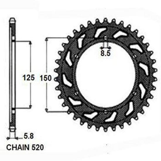 Снимка на Зъбно колело 50, пиньон, зъбак KTM HUSQVARNA 1990-2021