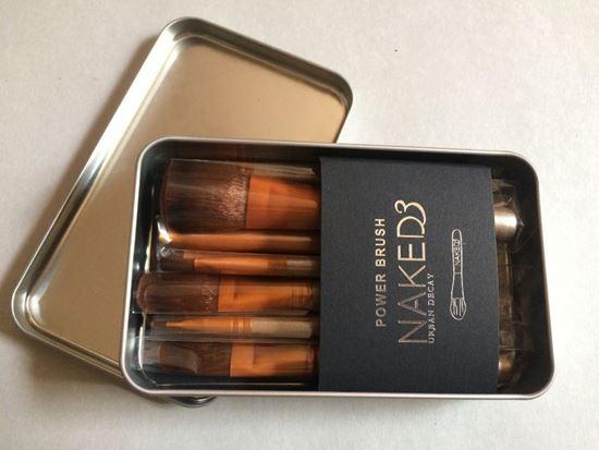 Picture of нов сет четки за гримиране Нейкид 12бр Naked метална кутия