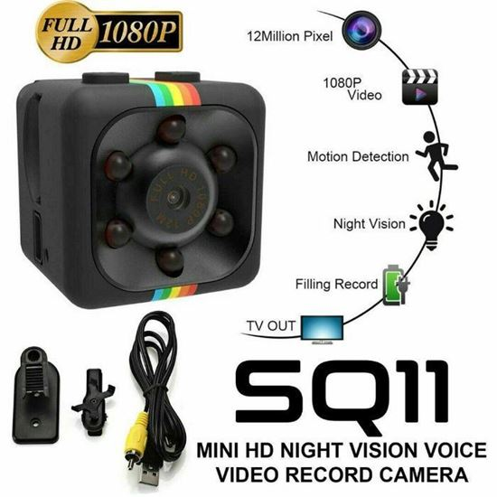 Picture of SQ11 мини камера HD видеокамера за нощно виждане 1080P мини DVR