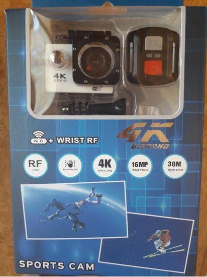Снимка на нова 4К спортна камера A6R с дистанционно, водоустойчива WIFI