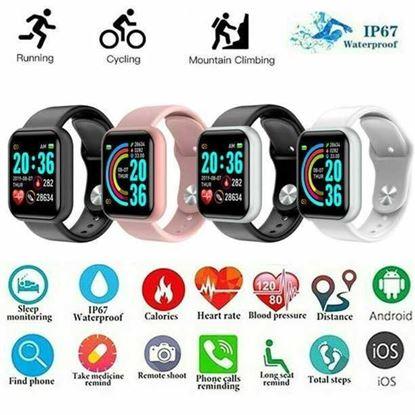 Picture of Смарт часовник Y68 Фитнес Сърдечен ритъм Крачкомер Проследяване