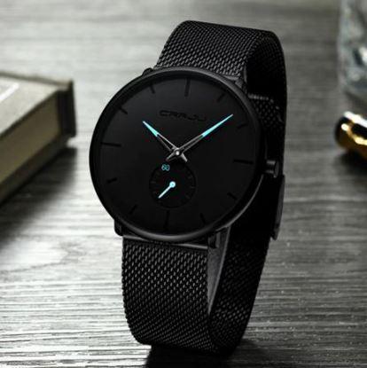 Picture of CRRJU Top Luxury Quartz - луксозен часовник (син стрелки)