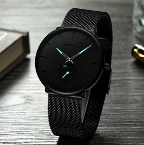 Снимка на CRRJU Top Luxury Quartz - луксозен часовник (син стрелки)