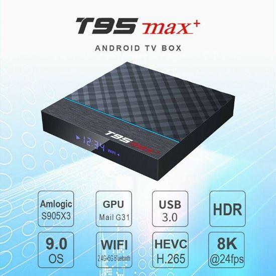 Снимка на Тв бокс T95MAX+ CPU: Amlogic S905X3 4/32GB Tv Box android 9 tv box