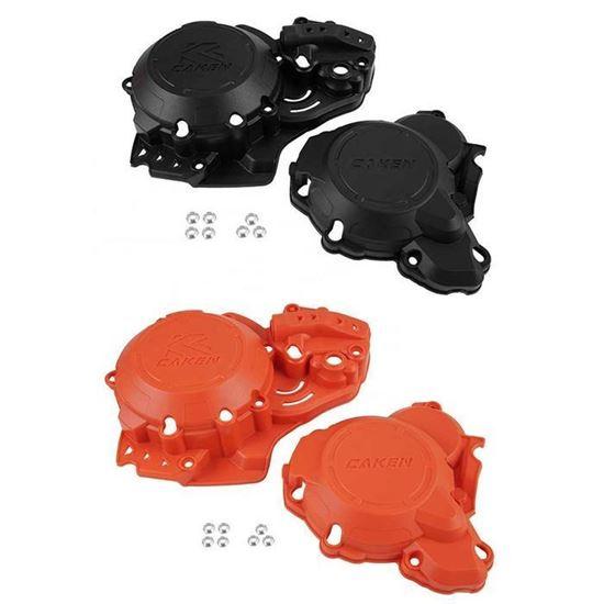 Снимка на Комплект предпазители за двигател на KTM или HSQ 250 - 300 17-21 - черен