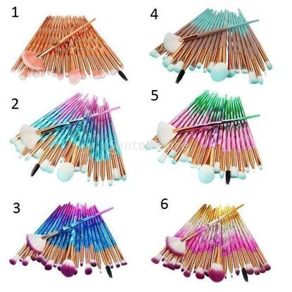Picture of 3D четки за грим за диамант 20бр. Комплект четки за пудра - 6