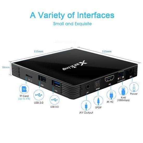 Снимка на X88 King Андроид 9.0 Тв Бокс S922X BT5.0 Hexa core Mali G52 MP6 TV Set