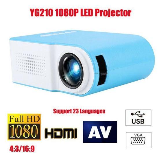 Снимка на YG210 Мини LED проектор Видео цифров HD 1080P театър за домашно кино